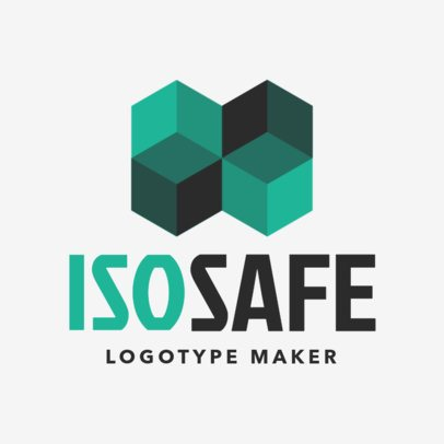 Cyber Security Logo Template Featuring Intertwined Cubes Graphics 1790f 2417