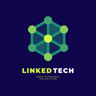 Tech Industry Logo Maker Featuring a Dotted Vertex Cube 2176i 2417