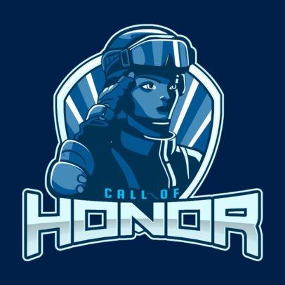 War Video Game Team Logo Maker Featuring a Loyal Soldier 2449dd
