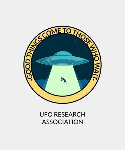 Alien-Themed T-Shirt Design Template 1717