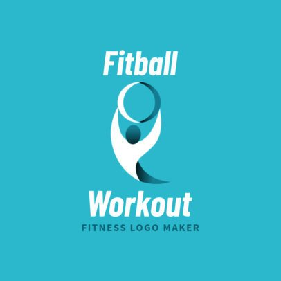 Fitness Logo Maker with Curved Abstract Graphics 2459d