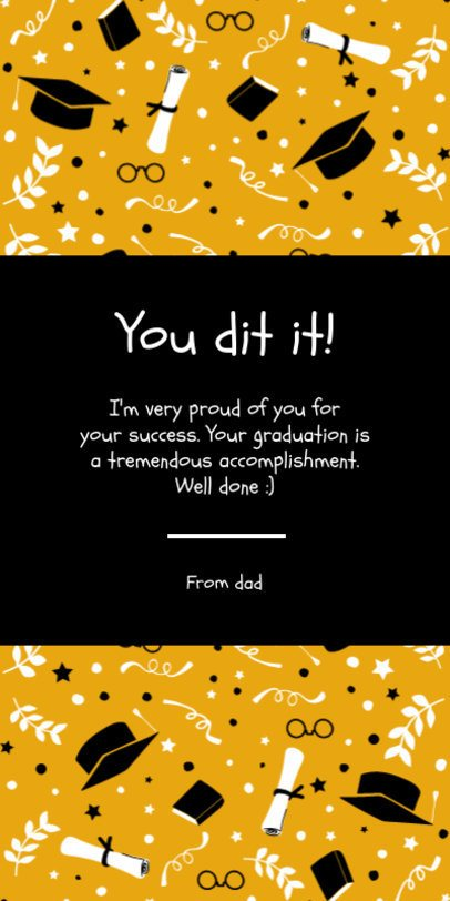 Greeting Card Template for a Graduation Day 1586c