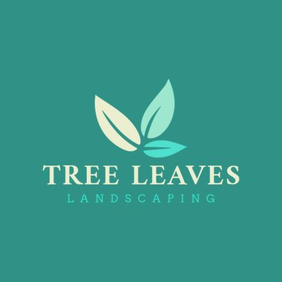 Logo Design Template Featuring Tree Leaves 1423g-2462