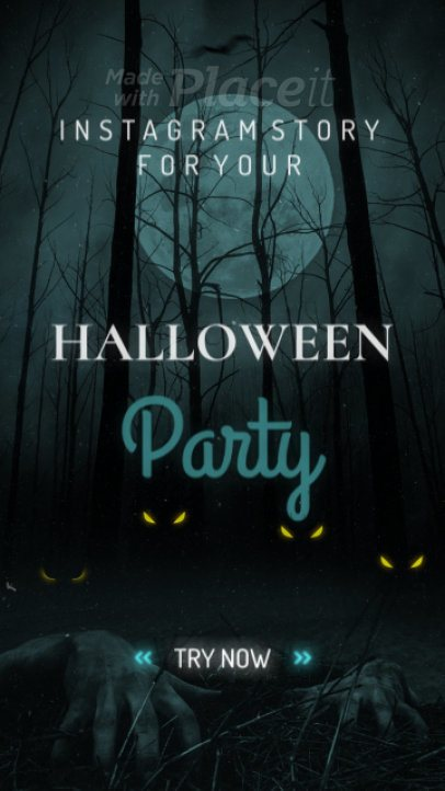 Spooky Halloween Instagram Story Video Maker Featuring Bat Animations 1862