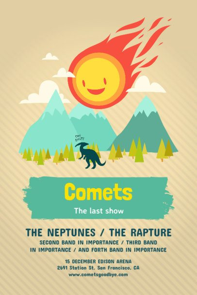 Customizable Poster Template for Outdoor Concerts 60c
