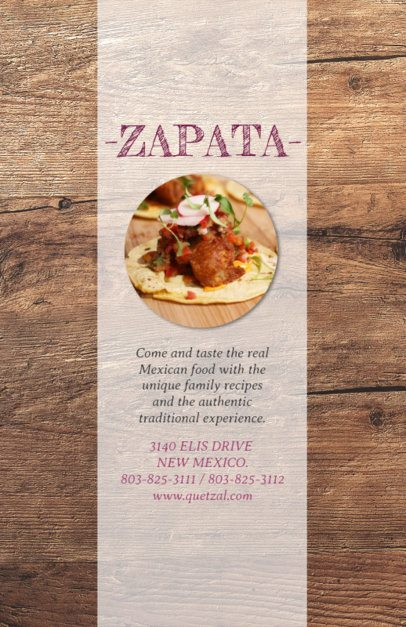 Online Flyer Maker for Traditional Mexican Restaurants 377e--1762
