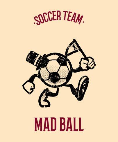 Sports Tee Design Maker for Soccer Teams 11f-1903
