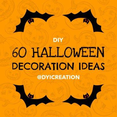 Social Media Post Template for Halloween 584e--1762