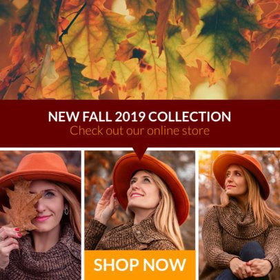 Modular Ad Banner Maker For a Fall Collection 1053f-1770