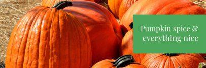 Fall-Themed Twitter Header Template with Pumpkins 1089g-1769