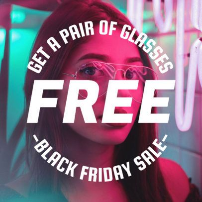 Modern Instagram Post Template for Black Friday Special Offers 583g-1782