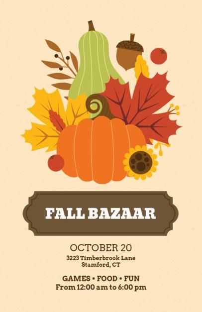 Flyer Maker for a Fall Bazaar 200f-1767