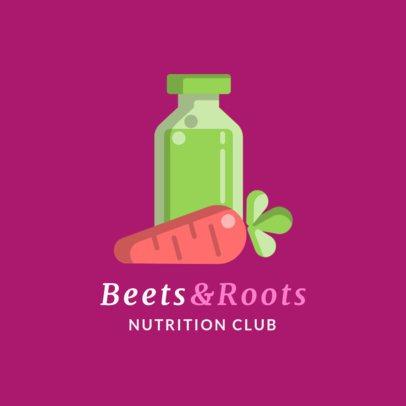 Nutritionist Logo Generator with 2D Veggie Illustrations 2536c