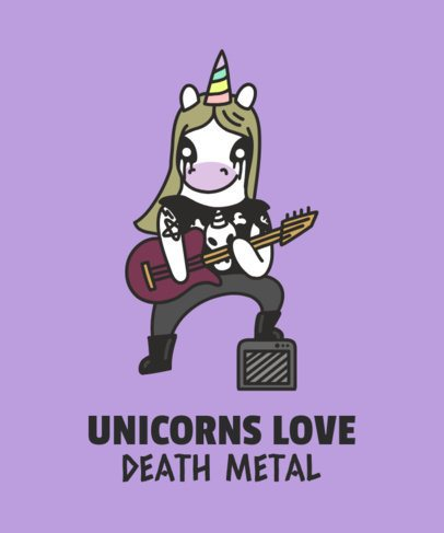 Unicorn T-Shirt Maker for a Metalhead 1817f