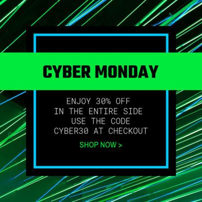 Instagram Post Template for a Cyber Monday Sale 1684m 1794