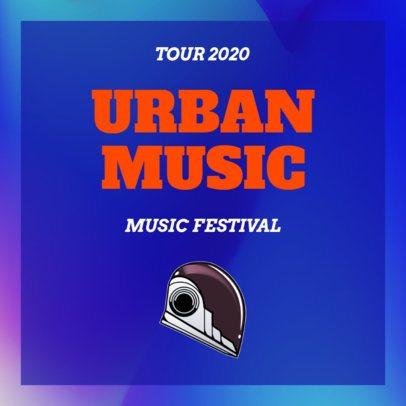 Instagram Post Maker for an Urban Music Festival 1774a