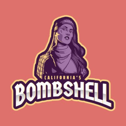 Gaming Logo Maker Featuring a Rebel Woman in Reference to GTA 2507q
