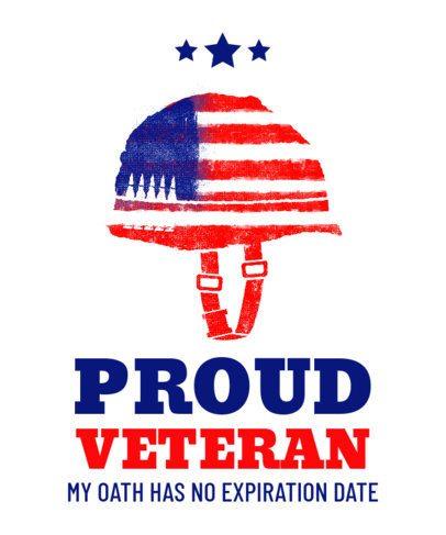 T-Shirt Design Maker for a Veterans Day Celebration 1812