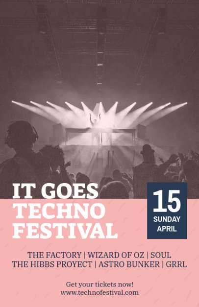 Music Flyer Maker for a Techno Festival 1776g