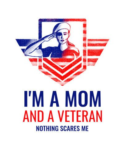 Veterans Day T-Shirt Design Creator Featuring a Female Soldier Salutating 1812e