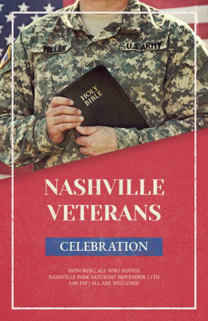 Veterans Day Flyer Maker Featuring a Soldier Picture 1803b