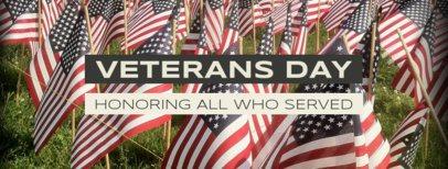 Facebook Cover Template to Celebrate Veterans Day 1803e