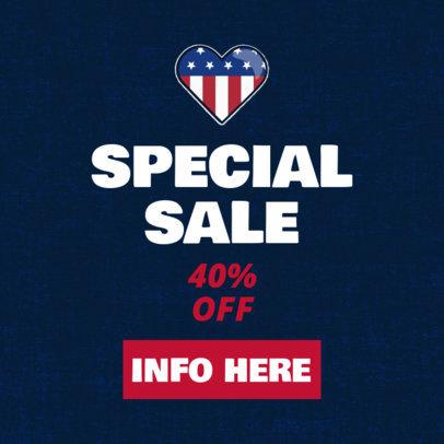 Online Banner Maker for a Veterans Day Special Sale 1806