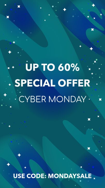 Instagram Story Generator for a Cyber Monday Promo Code 1792a