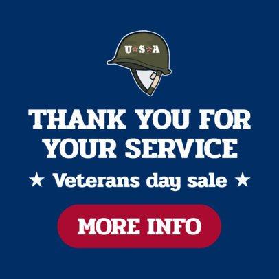 Banner Maker for a Huge Veterans Day Sale 1806c