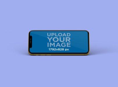 iPhone 11 Mockup Floating in a Minimalistic Scenario 239-el