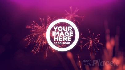 New Year Themed Intro Maker Featuring Fireworks Animations 1963
