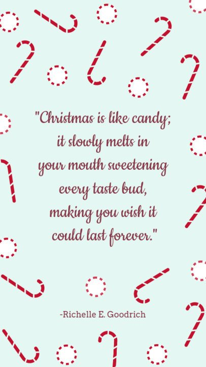 Instagram Story Maker with a Heart-Melting Christmas Quote 1043i-1827