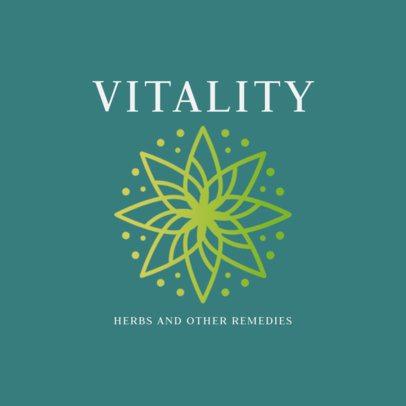 Alternative Health Logo Generator Featuring a Mandala Clipart 2578f