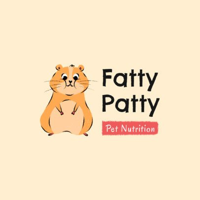Veterinary Logo Maker Featuring a Funny Fat Hamster 2581g