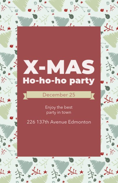 Colorful Flyer Maker for a Christmas Event 848g-1837