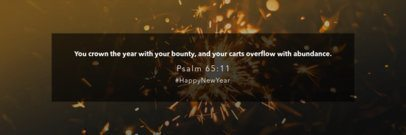 Facebook Cover Template with a New Year Quote 1094j-1860