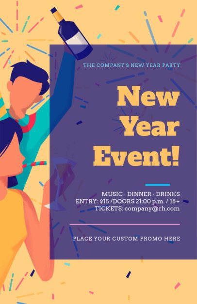 Online Flyer Maker for a New Year Event 275j-1863