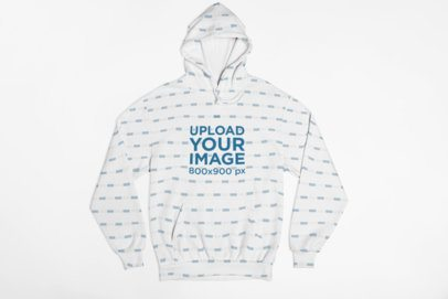 Mockup of a Pullover Hoodie Lying on a Flat Surface 29844
