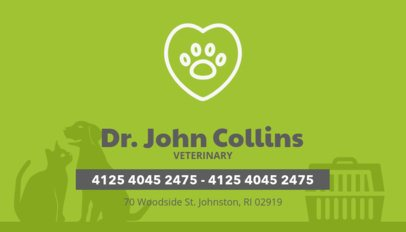 Business Card Maker for a Veterinarian 144f-26-el