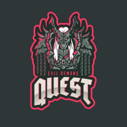 Logo Maker with an Illustration Inspired by an Evil Demon from Warcraft 2613b