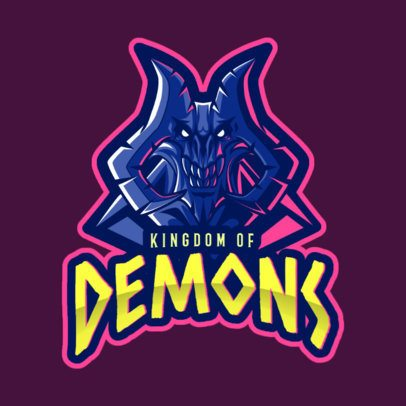 Gaming Logo Maker with a Demonic Character in Reference to World of Warcraft 2613k
