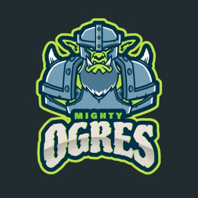 Logo Maker Inspired in WoW Featuring an Ogre with an Armor 2613t