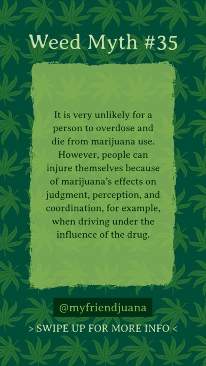 Instagram Story Template with Cannabis-Inspired Quotes 1888