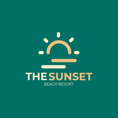 Minimal Online Logo Generator for a Beach Resort 1762g 20-el