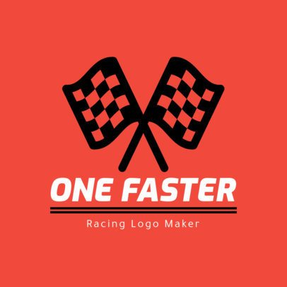 Racing Logo Maker Featuring Racing Flags 1648f-43-el