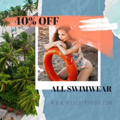 Collage-Style Instagram Post Maker for a Swimwear Discount 1900i