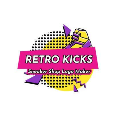 Logo Generator for a Retro Sneaker Shop 2615b