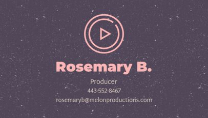 Video Producer Business Card Design Template 207g 52-el