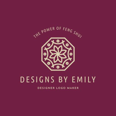 Interior Design Logo Maker with an Abstract Floral Icon 1325j-2618