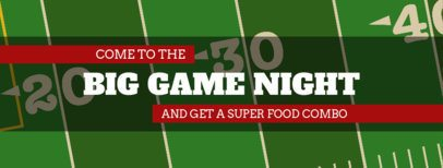 Twitter Header Design Template with a Football Game Night Theme 1934